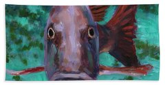 There's Something Fishy Going On Here Bath Towel by Billie Colson
