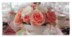 Teacup Roses Bath Towel