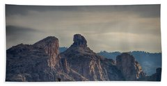Bath Towel featuring the photograph Thimble Peak Sunrise by Dan McManus