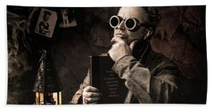 Bath Towel featuring the photograph Things To Consider - Steampunk - World Domination by Gary Heller