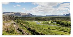 Thingvellir National Park In Iceland Hand Towel