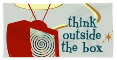 Think Outside The Box Hand Towel