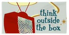 Think Outside The Box Bath Towel