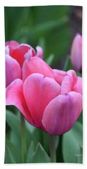 Think Pink In Watercolor Hand Towel