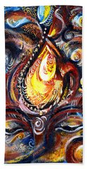 Third Eye - Abstract Bath Towel by Harsh Malik