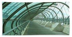 Third Millenium Bridge, Zaragoza, Spain Hand Towel by Tamara Sushko