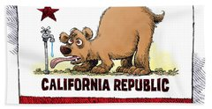 Thirsty California Flag Hand Towel