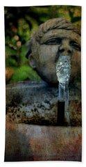Thirsty Garden Art Hand Towel by Lesa Fine