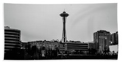 This Is Seattle Black And White Hand Towel