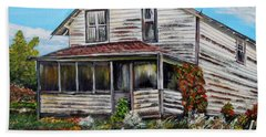 Bath Towel featuring the painting This Old House 2 by Marilyn  McNish