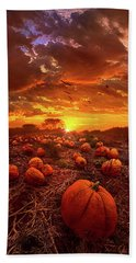 This Our Town Of Halloween Bath Towel by Phil Koch
