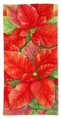 This Year's Poinsettia 1 Bath Towel by Inese Poga