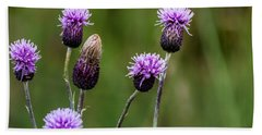 Bath Towel featuring the photograph Thistles by Chris Coffee