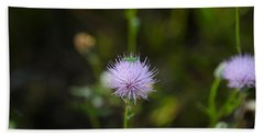 Thistles Morning Dew Bath Towel by Christopher L Thomley
