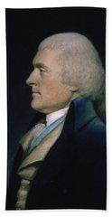 Thomas Jefferson Hand Towel by James Sharples