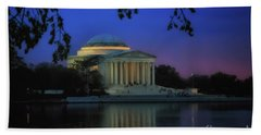 Thomas Jefferson Memorial Sunset Bath Towel