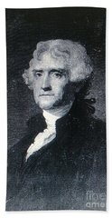 Hand Towel featuring the photograph Thomas Jefferson by Richard W Linford