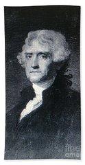 Thomas Jefferson Bath Towel by Richard W Linford
