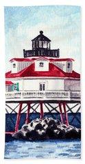 Thomas Point Shoal Lighthouse Annapolis Maryland Chesapeake Bay Light House Bath Towel