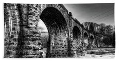 Thomas Viaduct In Black And White Hand Towel