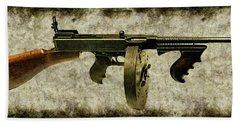 Thompson Submachine Gun 1921 Bath Towel