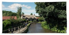 Thornton Le Dale Thatched Cottage Bath Towel by David  Hollingworth