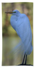 Thoughtful Heron Bath Towel by Kim Henderson