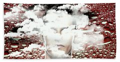 Thoughts Are Like Clouds Passing Through The Sky Bath Towel by Paulo Zerbato