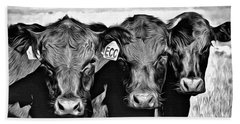 Three Amigos-2 Bath Towel by Barbara Dudley