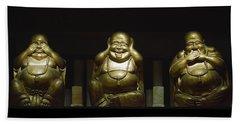 Three Buddhas Bath Towel