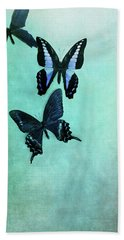 Three Butterflies Bath Towel