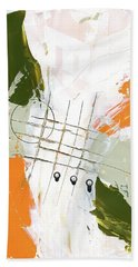 Hand Towel featuring the painting Three Color Palette Orange 3 by Michal Mitak Mahgerefteh