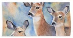 Three Deer Hand Towel