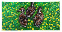 Three Ducklings Hand Towel