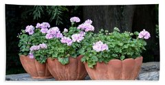 Three Flower Pots Bath Towel