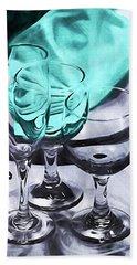 Three Glass Illusion Hand Towel