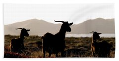 Three Goats Hand Towel