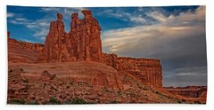 Three Gossips In Arches Hand Towel