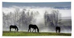 Three Horse Morning Bath Towel