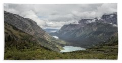 Three Lakes Viewed From Grinnell Glacier Bath Towel