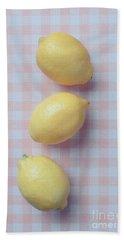 Three Lemons Hand Towel