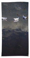 Three Paper Boats Hand Towel