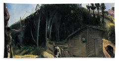Three Pigs And A Mountain Hand Towel by George Wesley Bellows