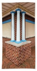 Three Pillars At The Refreshment Stand Hand Towel by Gary Slawsky