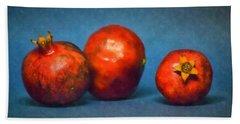 Three Pomegranates Bath Towel