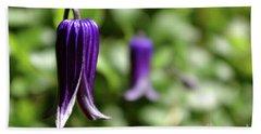 Three Purple Flowers- Leech Botanical Garden Hand Towel
