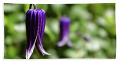 Three Purple Flowers- Leech Botanical Garden Bath Towel