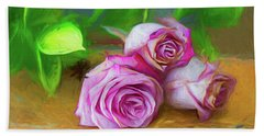 Three Roses Bath Towel