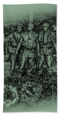 Hand Towel featuring the photograph Three Soldiers Memorial by David Morefield