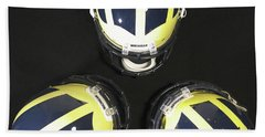 Three Striped Wolverine Helmets Bath Towel
